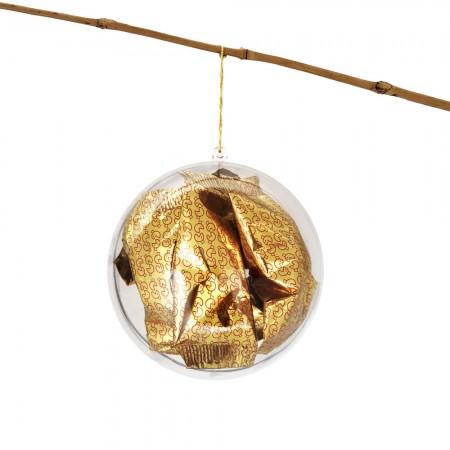 La Boule de Noël contenant 5 fortune cookies