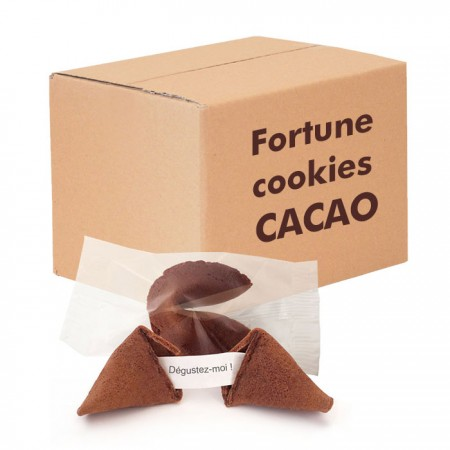 Fortune cookies cacao made in France